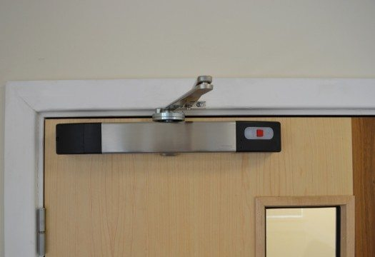 Agrippa sound activated fire door closer - stainless steel