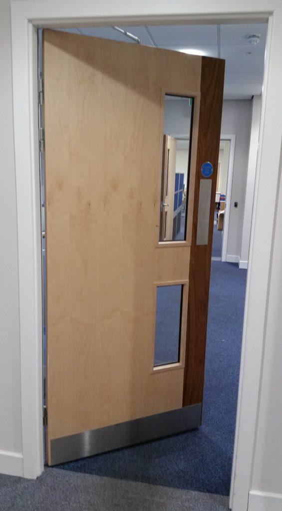 Left handed door